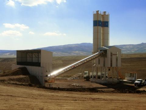 Doğuş İnşaat ve Ticaret A.Ş. Sahip Olduğu 90 m³/h Beton Santrali Ankara Şantiyesinde Üretime Başlamıştır.