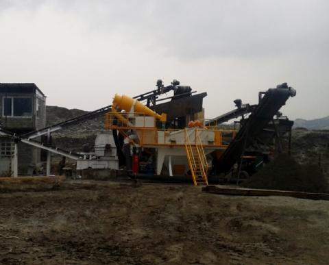 Tsekurı Ltd. Şti. Sahip Olduğu 100 t/h Susuzlandırma Ünitesi Tiflis / Gürcistan Şantiyesinde Üretime Başlamıştır.