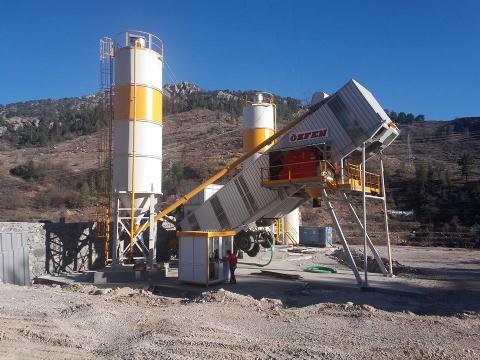 Ant İnşaat Maden San. A.Ş. Sahip Olduğu 75 m³/h Mobil Beton Santrali Alanya Şantiyesinde Üretime Başlamıştır.