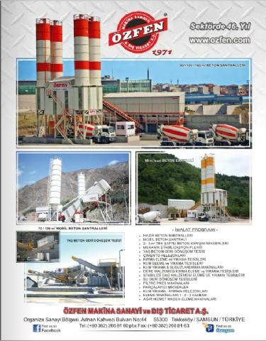 Özfen Makina, Hazır Beton Dergisi Mayıs - Haziran 2017 Yayını 141. Sayısı 19. Sayfada!