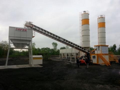 Onur Taahhüt Taşımacılık İnşaat Tic. ve San. A.Ş.'nin Sahibi Olduğu 500 Ton/saat Mekanik Stabilizasyon Plenti Lviv/ukrayna Şantiyesinde Üretime Başlamıştır.