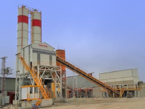 Dörtler Kireç ve Toprak Sanayi Ltd. Şti. 'nin Sahibi Olduğu 120-130 m³/saat Yaş Sistem Sabit Hazır Beton Santrali (2 Silolu) Kavak / Samsun Şantiyesinde Üretime Başlamıştır.