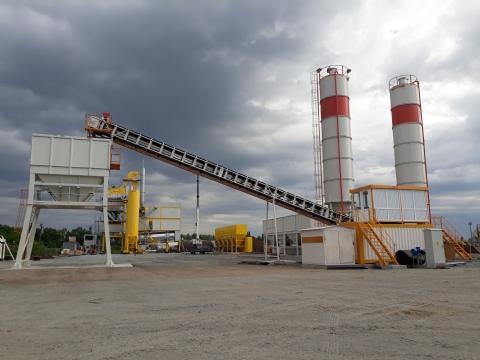 Onur Taahhüt Taşımacılık İnşaat Tic. ve San. A.Ş.'nin Sahibi Olduğu 500 Ton/saat Kapasiteli 3 Adet Mekanik Stabilizasyon Plenti Ukrayna Şantiyesinde Üretime Başlamıştır.