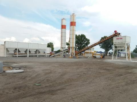 Onur Taahhüt Taşımacılık İnşaat Tic. Ve San. A.ş.'nin Sahibi Olduğu 500 Ton/saat Kapasiteli Mekanik Stabilizasyon Plenti Ukrayna Şantiyesinde Üretime Başlamıştır.